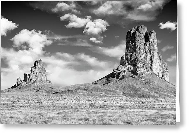 Greeting Card featuring the photograph Monoliths by Jon Glaser