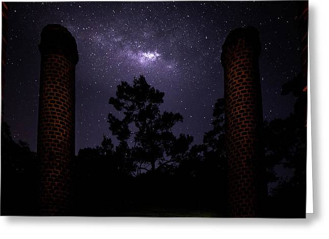 Monoliths Of The Milky Way Greeting Card by Mark Andrew Thomas
