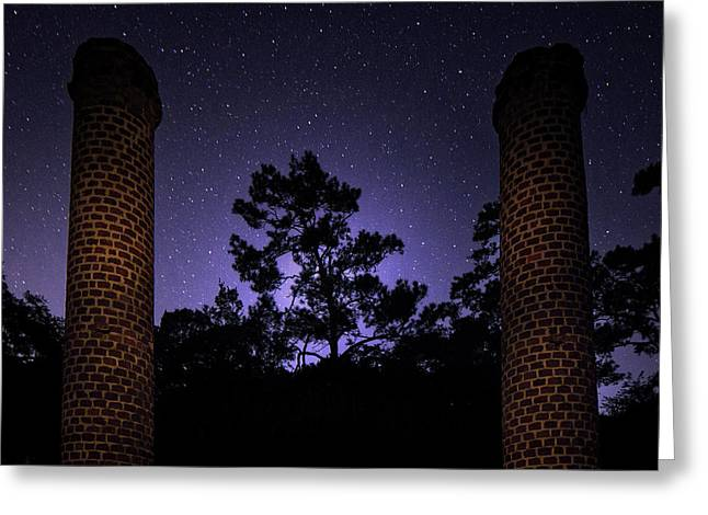 Monoliths Of The Night Greeting Card