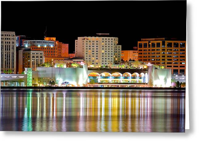 Monona Terrace Reflections Greeting Card by Todd Klassy