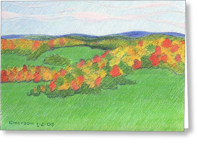 Monongalia County Autumn Greeting Card by Harriet Emerson