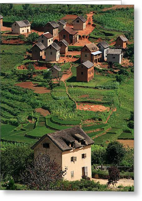 Monopoly Houses Madagascar Village Greeting Card