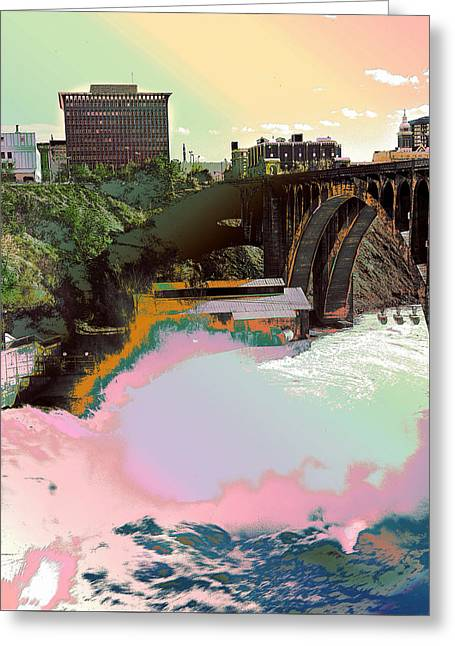 Greeting Card featuring the photograph Grunge Monroe Street Plant  by Robert G Kernodle