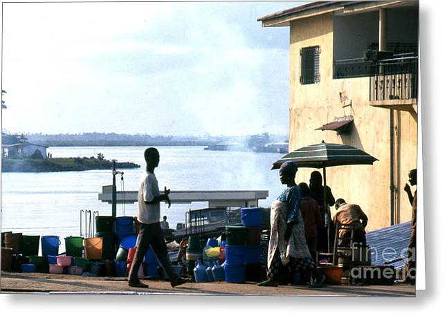 Monrovia Liberia 1971 Greeting Card by Erik Falkensteen