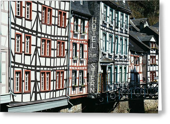 Monschau Hotel Greeting Card