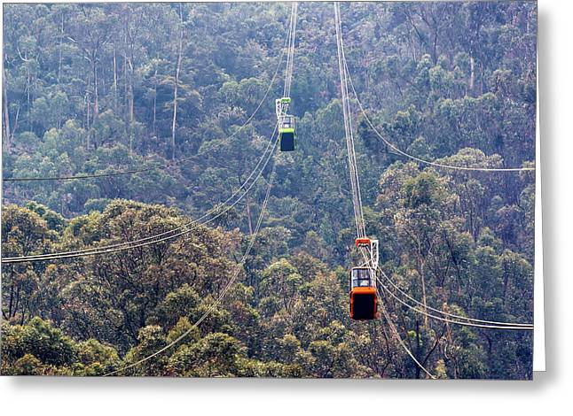 Monserrate Aerial Tramway Greeting Card