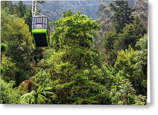 Monserrate Aerial Tramway View Greeting Card