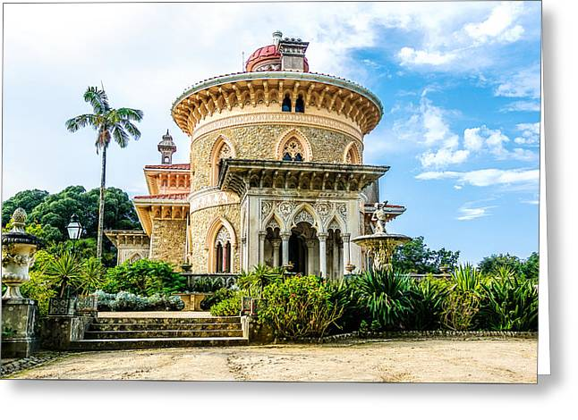Greeting Card featuring the photograph Monserrate Palace by Marion McCristall