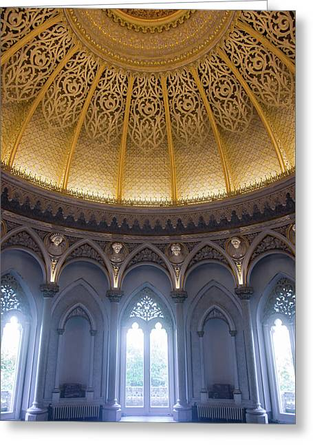 Greeting Card featuring the photograph Monserrate Palace Room by Carlos Caetano