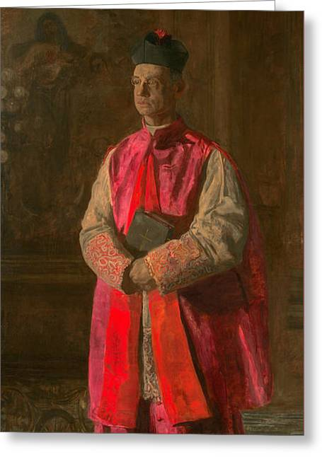 Monsignor James P. Turner Greeting Card by Thomas Eakins