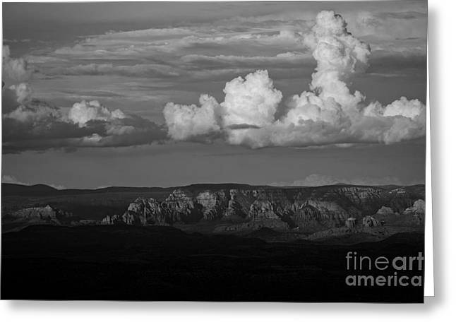 Greeting Card featuring the photograph Monsoon Clouds Over Sedona by Ron Chilston