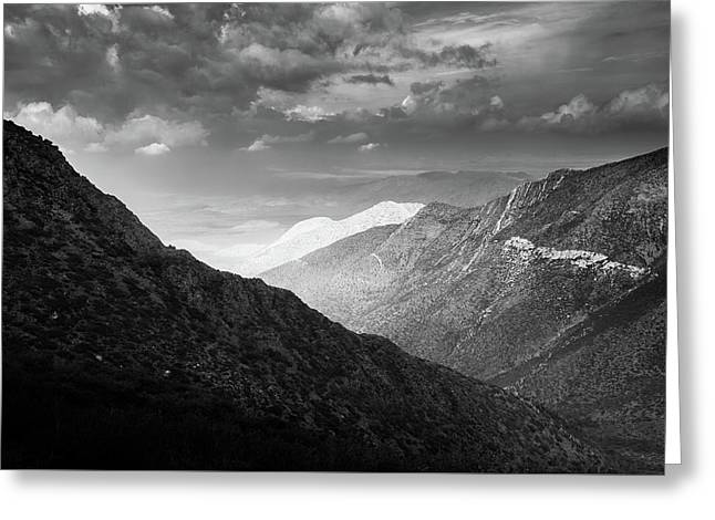 Greeting Card featuring the photograph Monsoon Clouds Over Storm Canyon by Alexander Kunz
