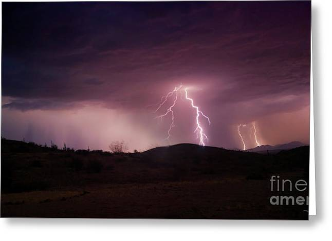 Monsoon Lightning Greeting Card by Anthony Citro
