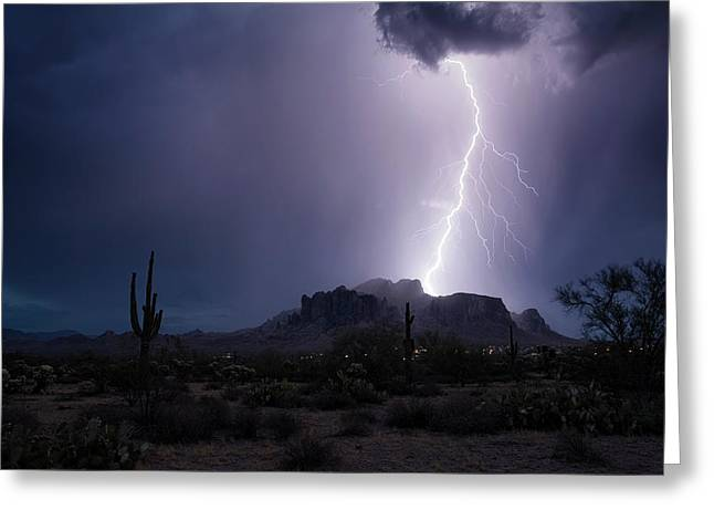 Monsoon On The Mountain  Greeting Card