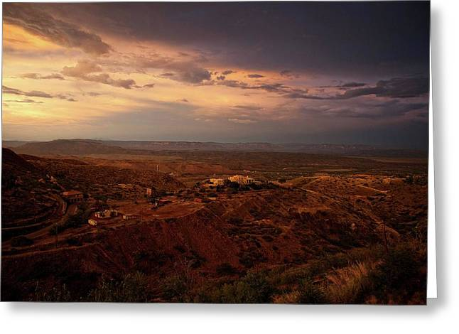 Greeting Card featuring the photograph Monsoon Storm Afterglow by Ron Chilston