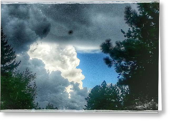 Monsoon Storm Clouds Greeting Card