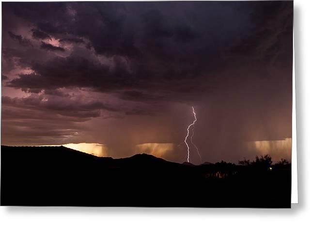 Monsoon Storm Greeting Card by Dennis Eckel