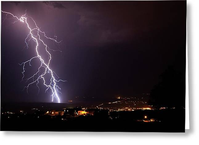 Greeting Card featuring the photograph Monsoon Storm by Ron Chilston