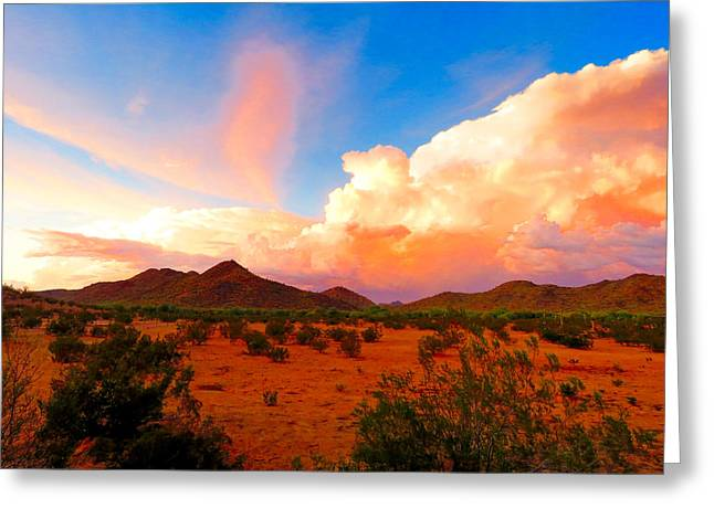 Monsoon Storm Sunset Greeting Card