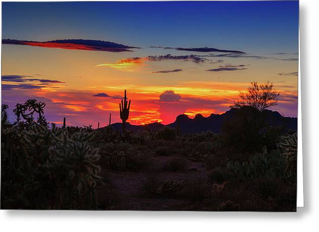 Monsoon Sunset Greeting Card