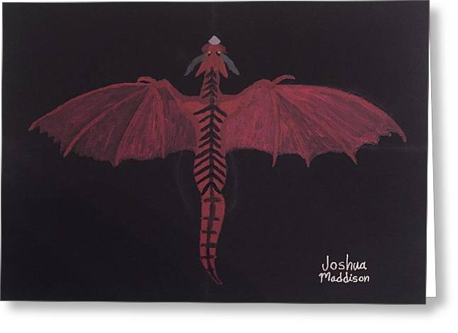 Monsterart Dragonsaurus Greeting Card