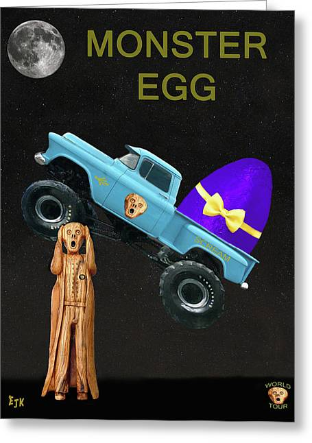 Monster Eggs Greeting Card