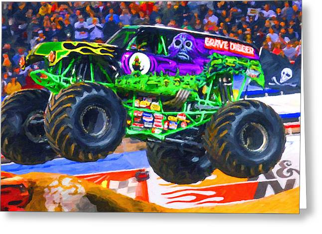 Monster Jam Grave Digger Greeting Card