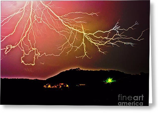 Monster Lightning By Michael Tidwell Greeting Card