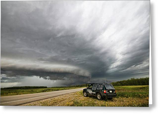 Monster Storm Near Yorkton Sk Greeting Card