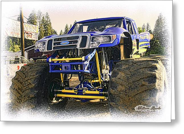 Greeting Card featuring the photograph Monster Truck At The Fair by William Havle