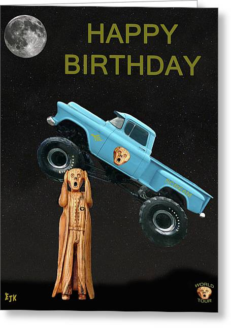 Monster Truck The Scream World Tour Happy Birthday Greeting Card