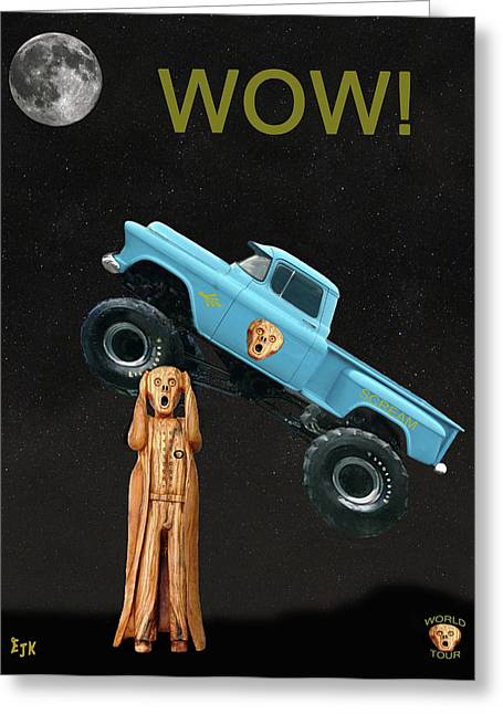 Monster Truck The Scream World Tour Wow Greeting Card
