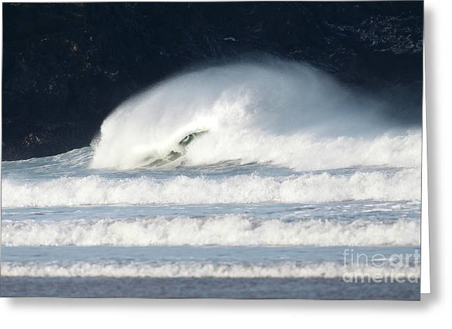 Greeting Card featuring the photograph Monster Wave by Nicholas Burningham