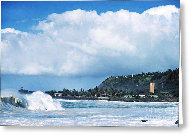 Monster Wave Waimea Bay Greeting Card by Thomas R Fletcher
