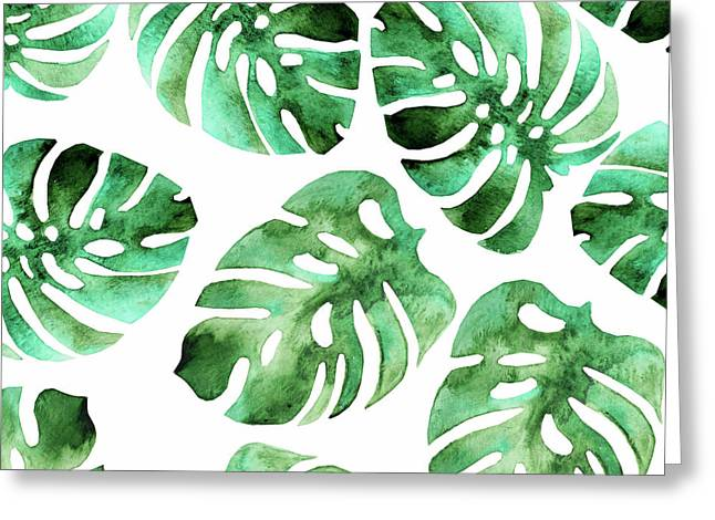 Monstera Greeting Card