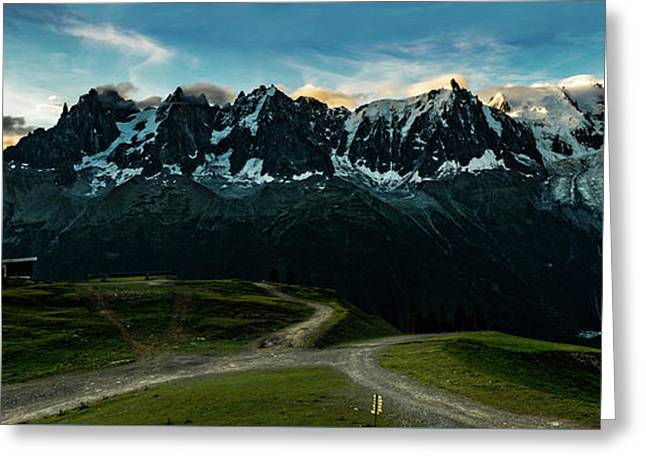 Mont Blanc And Aiguille Du Midi Greeting Card by One Starry Night