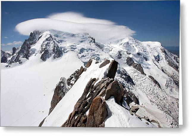 Mont Blanc And Ufo Greeting Card