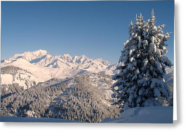 Mont Blanc From Les Saisies Greeting Card by Michael Canning