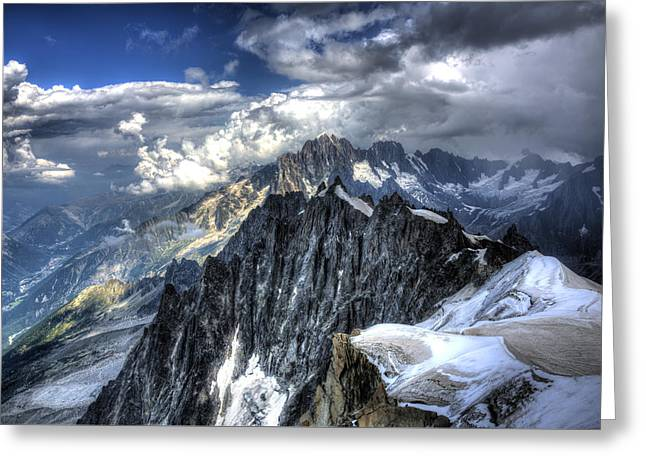 Mont Blanc Near Chamonix In French Alps Greeting Card