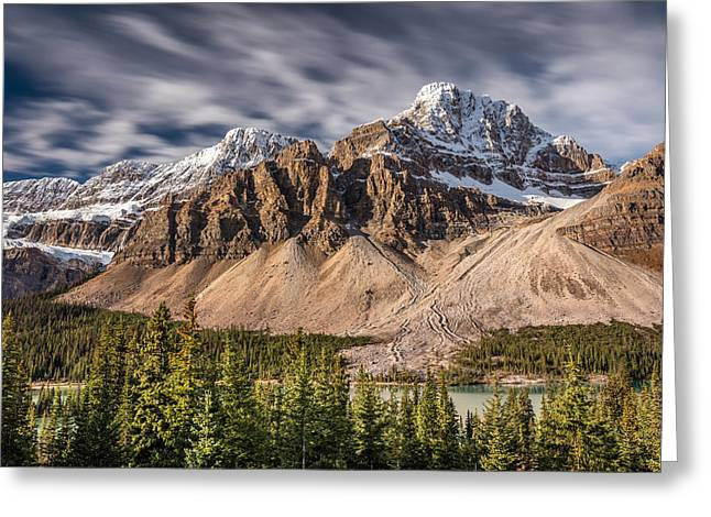 Mont Crowfoot On The Icefield Parkway Greeting Card