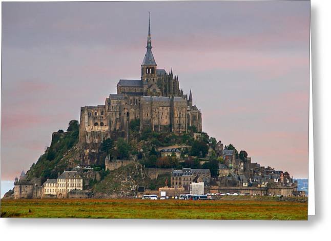 Diana Haronis Greeting Cards - Mont Saint Michel Greeting Card by Diana Haronis