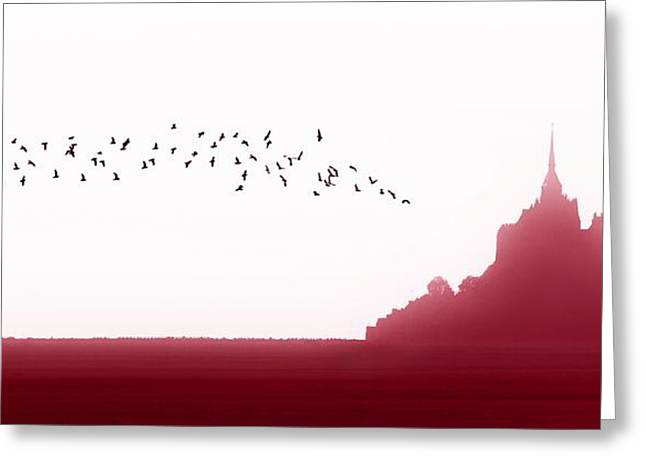 Mont Saint-michel Fantasy Greeting Card