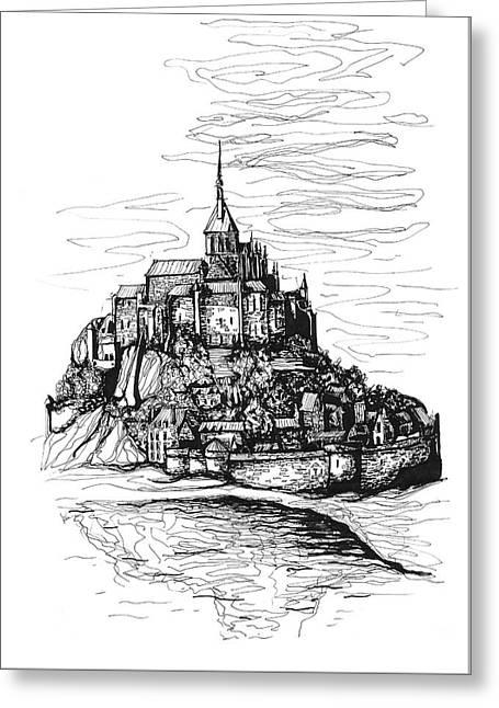 Mont-saint-michel Greeting Card