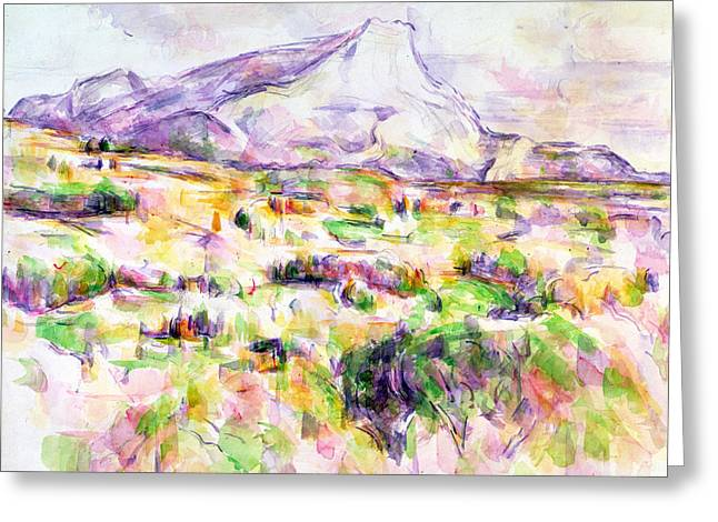 Mont Sainte-victoire From Les Lauves Greeting Card by Paul Cezanne