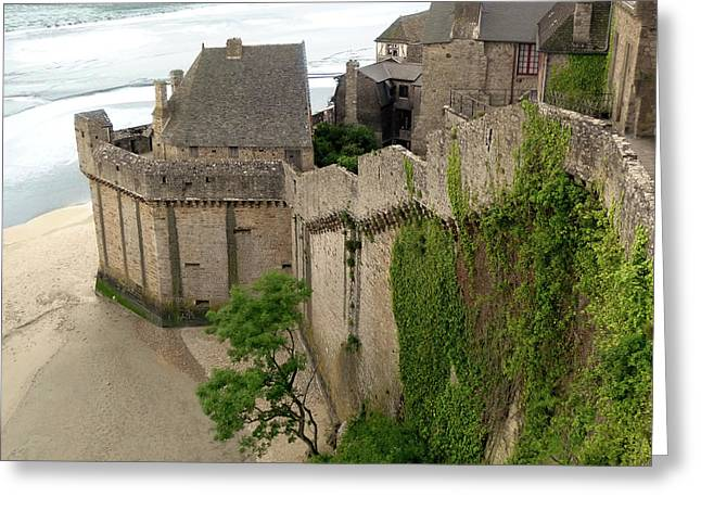 Mont St Michel Outer Wall Greeting Card
