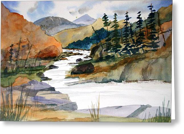 Montana Canyon Greeting Card