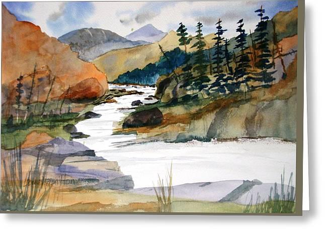 Montana Canyon Greeting Card