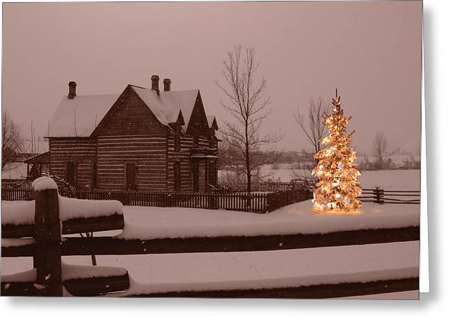Montana Christmas Greeting Card by Paul Porto