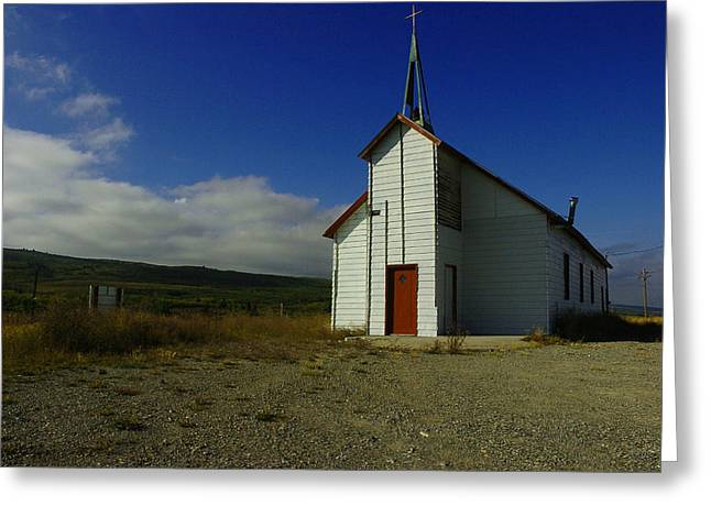 Montana Church Greeting Card by Tom  Reed