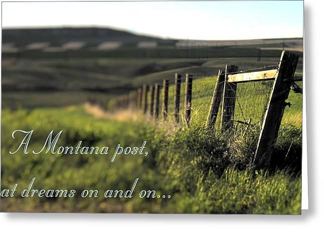 Montana Dream Greeting Card